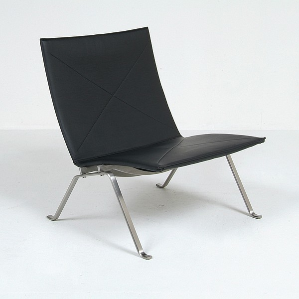 Kjaerholm: PK22 Lounge Chair Reproduction midcentury-living-room-chairs