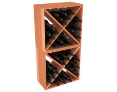 48 Bottle Wine Cube Collection in Premium Redwood, (Unstained) contemporary-wine-racks