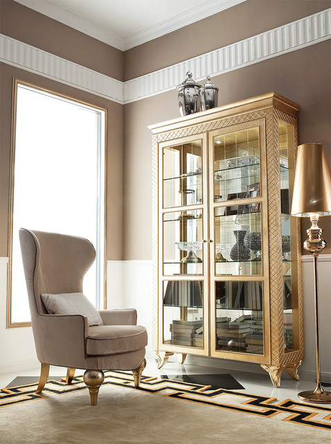 Geneve - Gold - Modern China Cabinet - Modern - China Cabinets And Hutches - dallas - by The ...