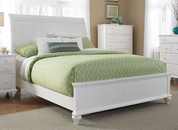 Broyhill Furniture Hayden Place California King Storage Sleigh Bed In Linen Wh Traditional