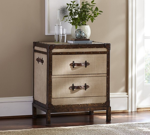 REDFORD TRUNK BEDSIDE TABLE - Traditional - Nightstands And Bedside Tables - sacramento - by ...