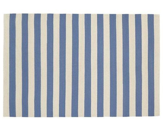 Blue Big Band Stripe Rug -