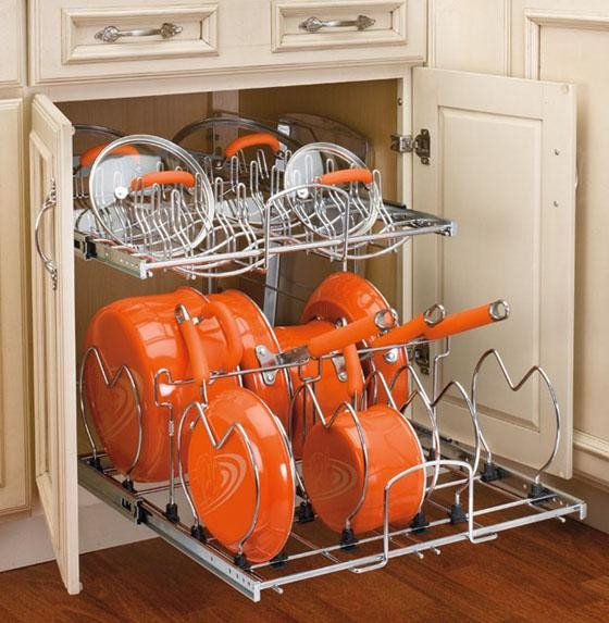 Rev-a-Shelf Two-tier Cookware Organizer - Eclectic ...