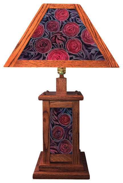 Craftsman Style Hand Painted Lamp craftsman-table-lamps