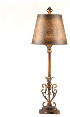 Caramel Swirl Buffet Lamp traditional-table-lamps