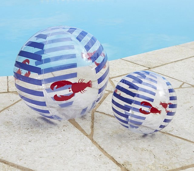 Navy Lobster Beach Balls contemporary-outdoor-products