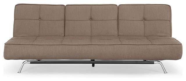 Lifestyle Solutions Bari Dark Grey Convertible Sofa traditional-futons