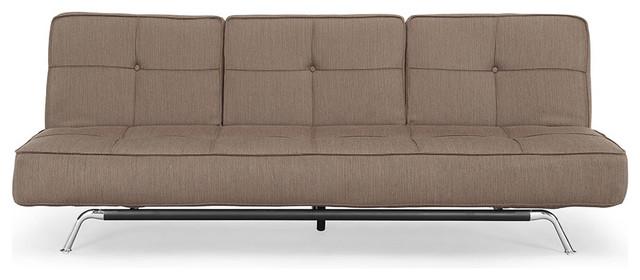 Lifestyle Solutions Bari Dark Grey Convertible Sofa traditional-sofa-beds