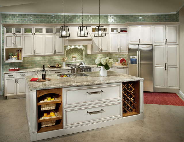 Painted dewils cabinets traditional portland by for Kitchen cabinets portland