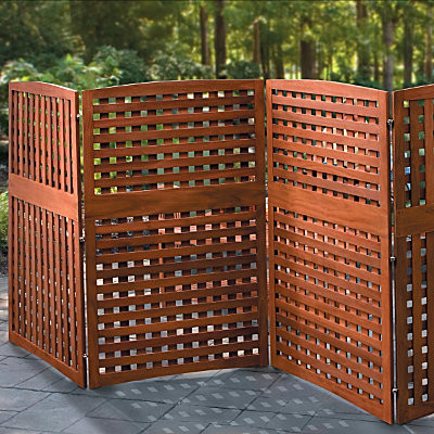 natural 4 panel yard privacy screen 30 x52
