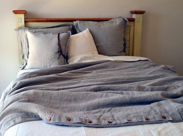 Natural Rustic Rough Heavy Weight Linen Duvet Cover ...
