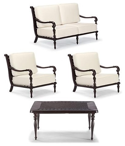 British Colonial 4-pc. Outdoor Loveseat Set - Frontgate, Patio ...