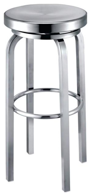Fine Mod Imports Navy Bar Stool, Aluminum contemporary-bar-stools-and-counter-stools