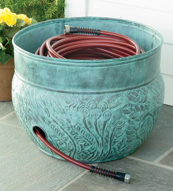 Hose Pot Traditional Outdoor Decor By Plow Amp Hearth