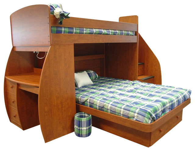 Berg Furniture Sierra Space Saver Twin Over Full Bunk Bed