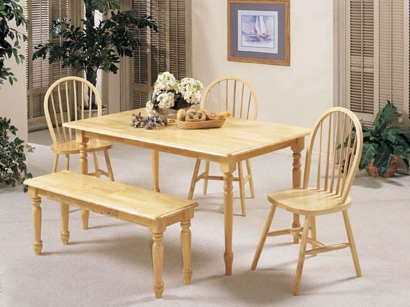 Acme Furniture - Windsor Light 6 Piece Farmhouse Dining Set - 6 PC set traditional-dining-tables