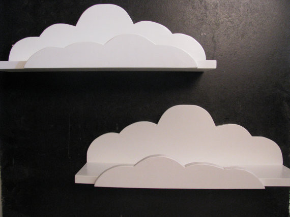 Cloud Shelf Deluxe by Happywood Goods eclectic wall shelves