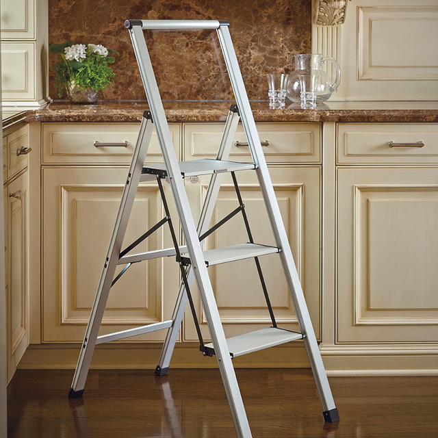 Ultralight Slimline 3 Step Ladder Traditional Ladders