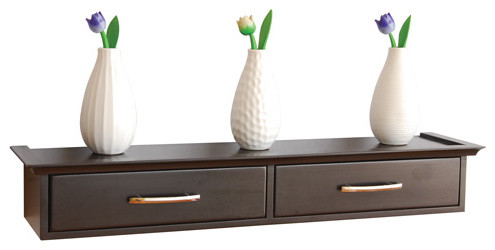 Wall Shelf with Storage and Drawers - Contemporary - by Dalian ...