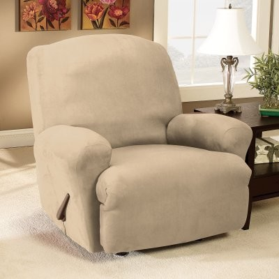 Sure Fit Stretch Suede Recliner Slipcover modern-chairs
