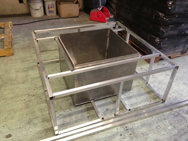 Custom Ready to Finish Fire Pit Frames modern-fire-pits