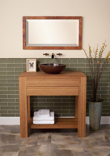 Sumatra bamboo vanity by native trails contemporary for Modern bamboo bathroom vanity