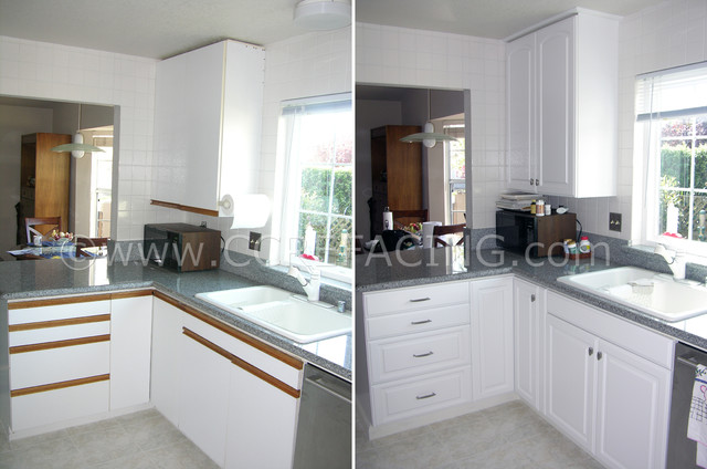 Danville Kitchen Refront with Thermofoil doors 1 (before ...