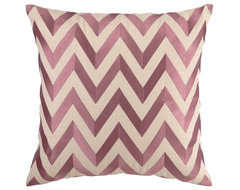 Zigzag Lilac Embroidered Pillow contemporary-pillows