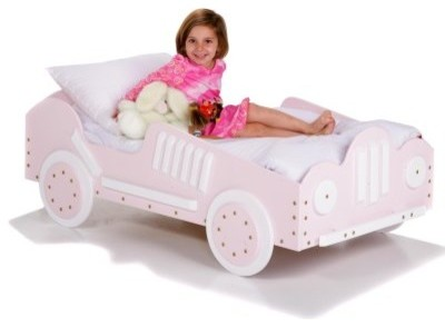 Pink Race Car Toddler Bed modern-baby-toys