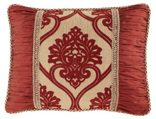 Austin Horn Collection Standard Sham with Shirred Sides traditional-pillowcases-and-shams