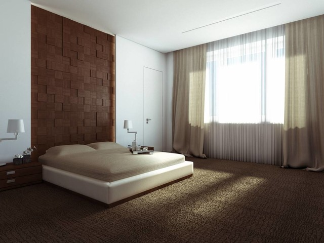 """Charming Minimalism - Apartment in """"Moskovyan Plaza"""" Multifunctional Complex in contemporary-bedroom"""