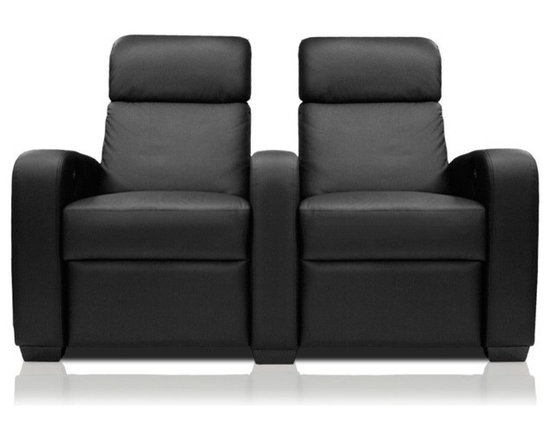 Bass Preview - The Bass Preview is an imported lounger made to the strictest specifications. It offers a contemporary style with curved arms  and a split pillow backrest. It offers a full sized chaise and has a 22 inch wide seat width for complete comfort. This is a perfect seat for the home theater enthusiast seeking a cost effective solution for their home theater seating needs.