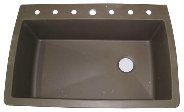 Blanco 440192 Diamond Super Single Bowl Silgranit II Drop In Kitchen Sink In Caf kitchen-sinks