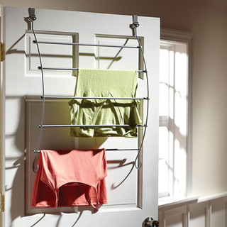 homz over the door metal clothes drying rack. Black Bedroom Furniture Sets. Home Design Ideas