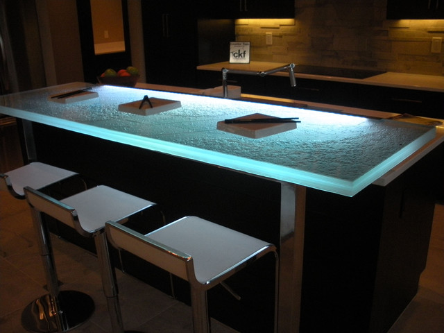 Glass bar top contemporary indoor pub and bistro