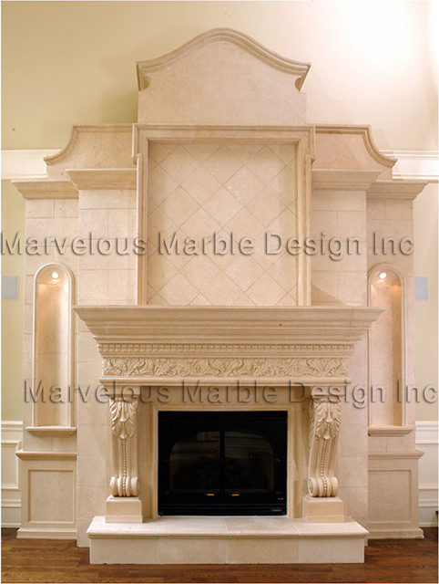Fireplace Mantels traditional-living-room