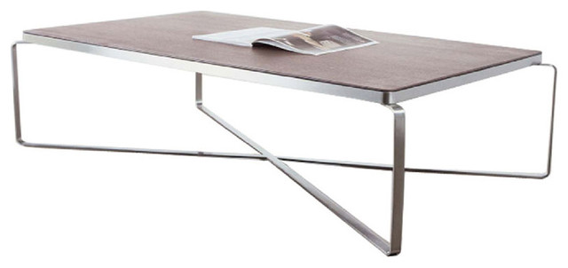 Metro Wood Rectangular Coffee Table Modern Coffee Tables By