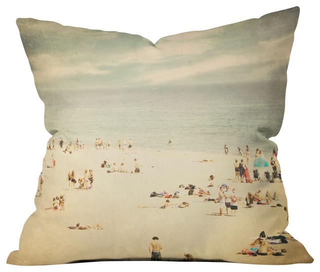 Shannon Clark Vintage Beach Outdoor Throw Pillow beach-style-outdoor-cushions-and-pillows