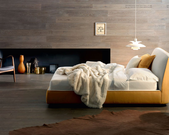 Atelier Bed - Atelier Bed is fully upholstered bed with various fabric and stitch options. The headboard is made of memory foam for maximum comfort adapts to the body posture and returns in the identical position when the bed is lifted. Contact info@casaspazio.com for more information.