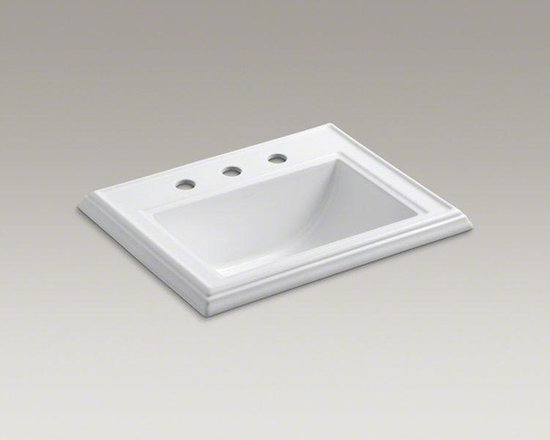 KOHLER White Memoirs® Classic Drop-in Bathroom Sink - Inspired by traditional furniture and architectural elements, this sink carries the clean lines and rich detailing of the Memoirs collection. The decorative edges resemble crown molding for a classic, refined presence.