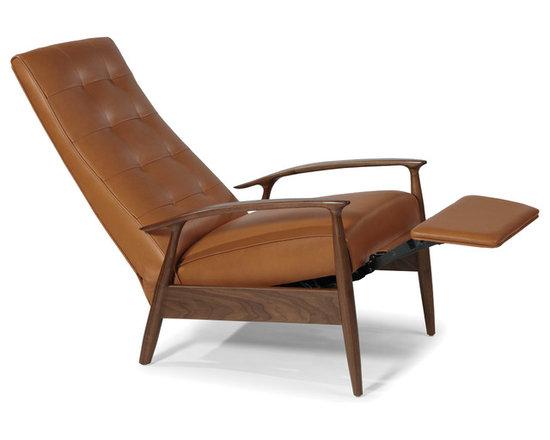 Tighten Up Recliner by Milo Baughman for Thayer Coggin (full recline view) -