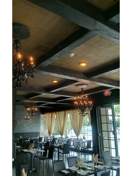 Reclaimed Barn Beams Projects in NYC, New Jersey & CT - Exposed Ceiling Beams