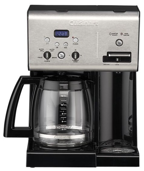 Brew Hot Water Coffee Maker : Cuisinart Programmable 12 Cup Coffee Maker with Hot Water System - Modern - Coffee Makers - by ...