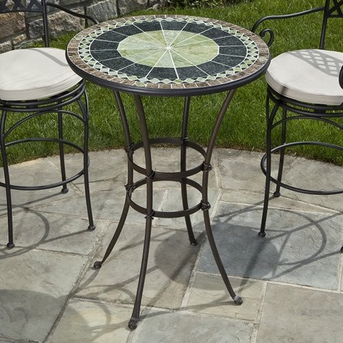 Alfresco Home Ponte 30 in Round Mosaic Bar Height Bistro  : contemporary outdoor tables from www.houzz.com size 500 x 500 jpeg 91kB