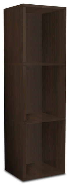 Way Basics Eco 3 Shelf Narrow Bookcase, Espresso modern-storage-units-and-cabinets