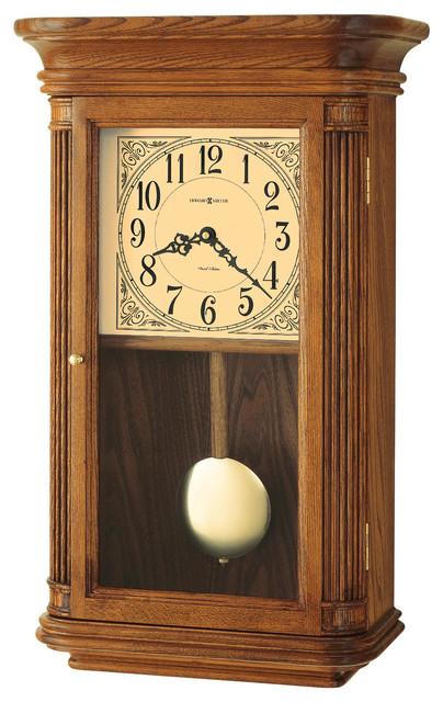 howard miller dual chime vintage oak wall clock