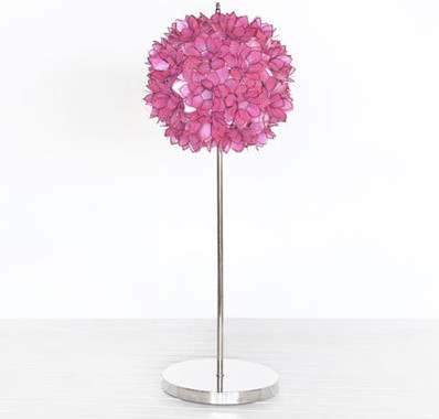 Worlds Away Venus Table Lamp - Pink eclectic table lamps