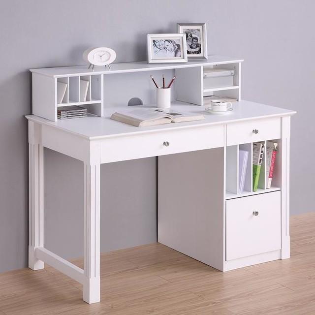 Desk with Hutch - Modern - Desks & Writing Bureaus - by Overstock.com