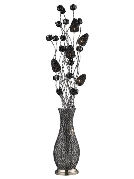 Dimond Lighting D2128 cyprus grove floor lamp in chrome and black Finish - The Dimond Lighting Cyprus Grove D2128 is a whimsical floor lamp available in and Chrome and Black finish.The whimsical style is sure to compliment any office, bedroom or living room.
