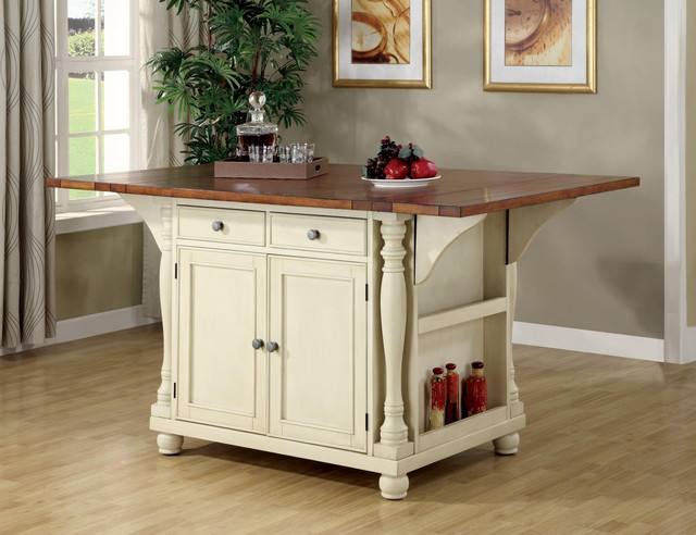 buttermilk cherry wood kitchen island cabinet wine rack storage 102271 contemporary dining. Black Bedroom Furniture Sets. Home Design Ideas